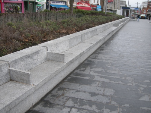General Gordon Square, Woolwich - Seating to the Edge of Planter