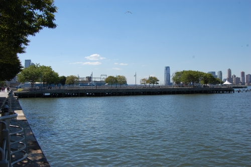 Hudson River Park 'Pier 46', New York, USA - Side View of Pier